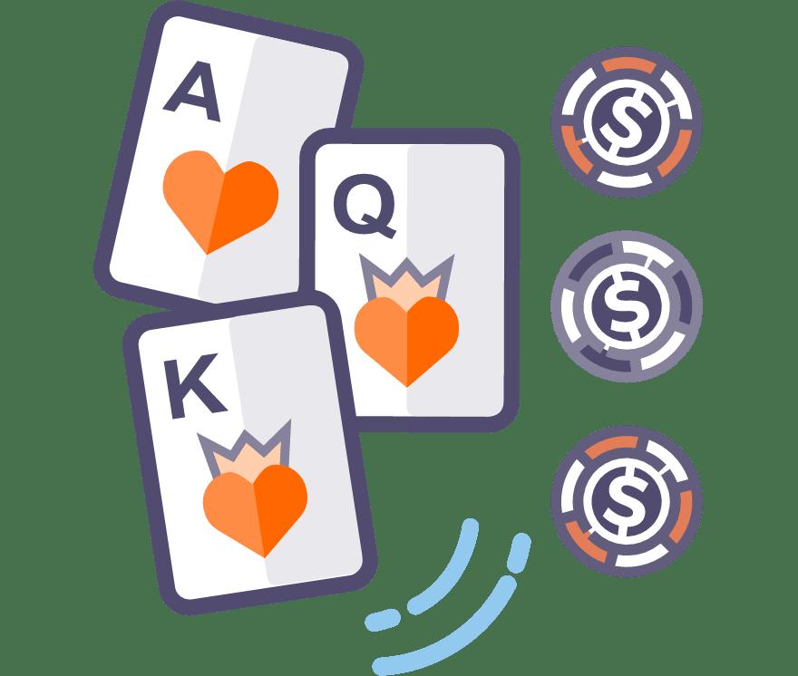 Zagraj w Poker trzykartowy online — najlepszych 41 Kasyno Online z największymi wypłatami w roku 2021